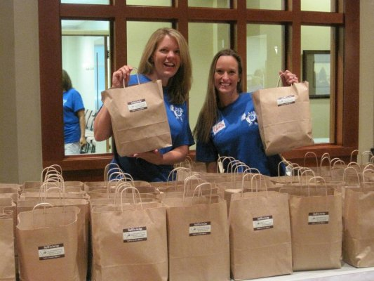 co-chairs with bags