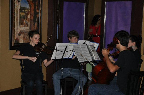 Woodstock High School string quartet