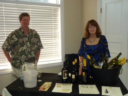 Kathy Fulton helping with the wine