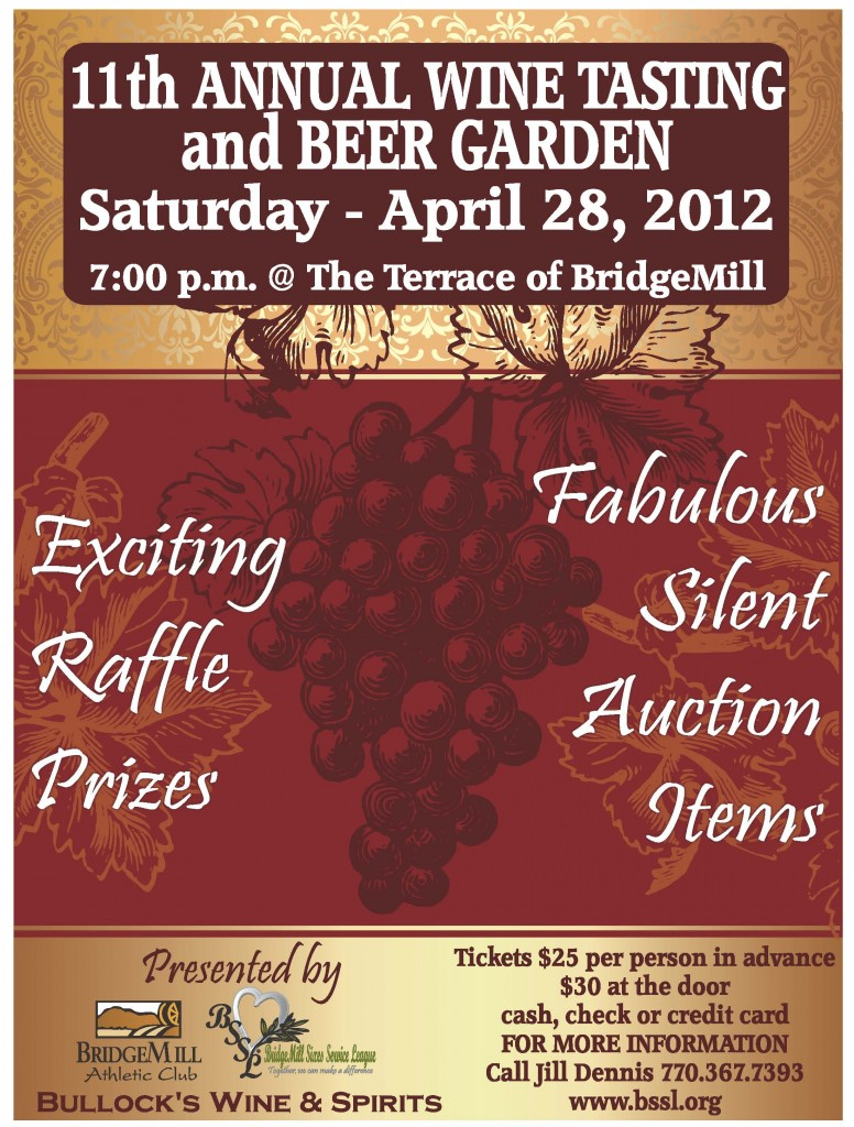 2012 Wine Tasting BridgeMill Sixes Service League Canton, GA