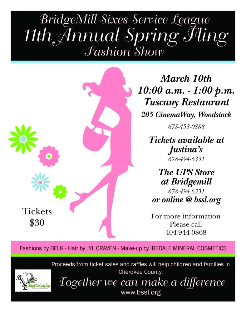 2012 BSSL Spring Fling Fashion Show in Canton, Ga